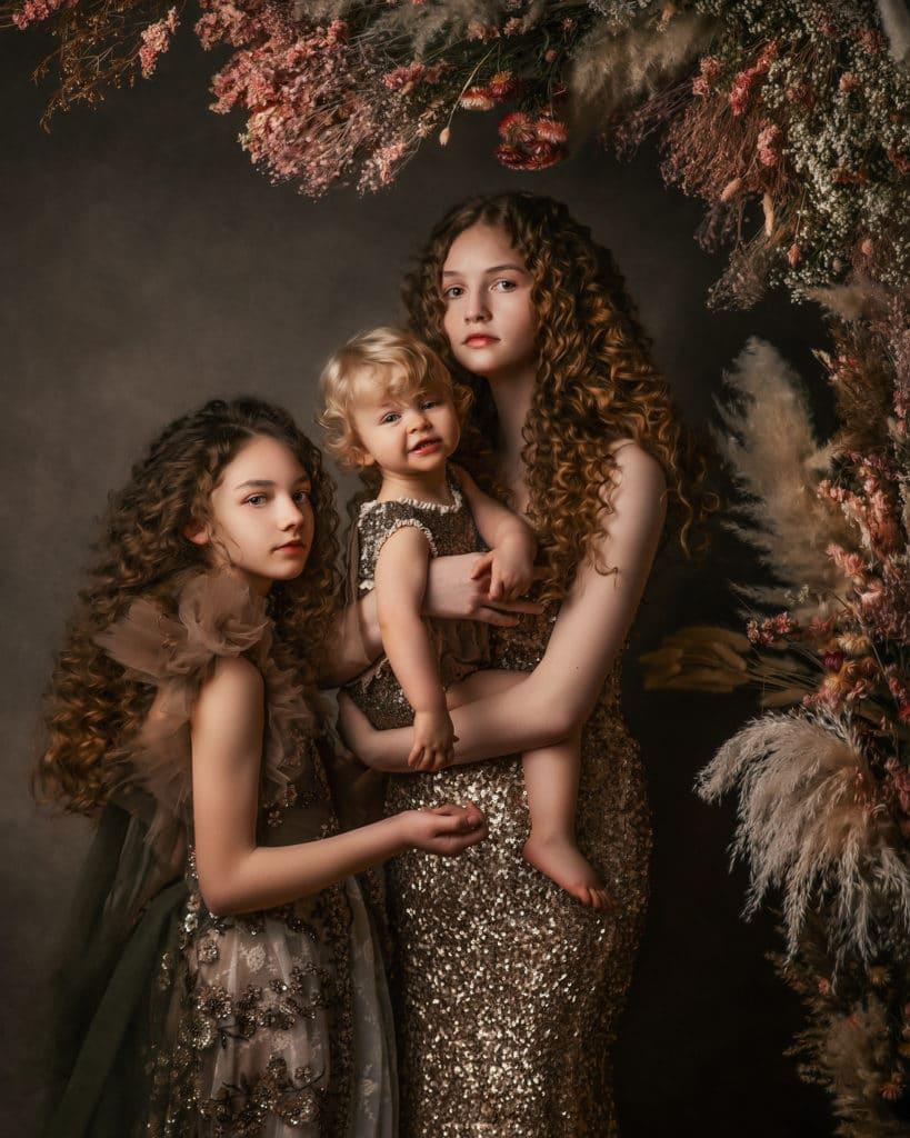 sisters portrait boho fine art style fine art photography