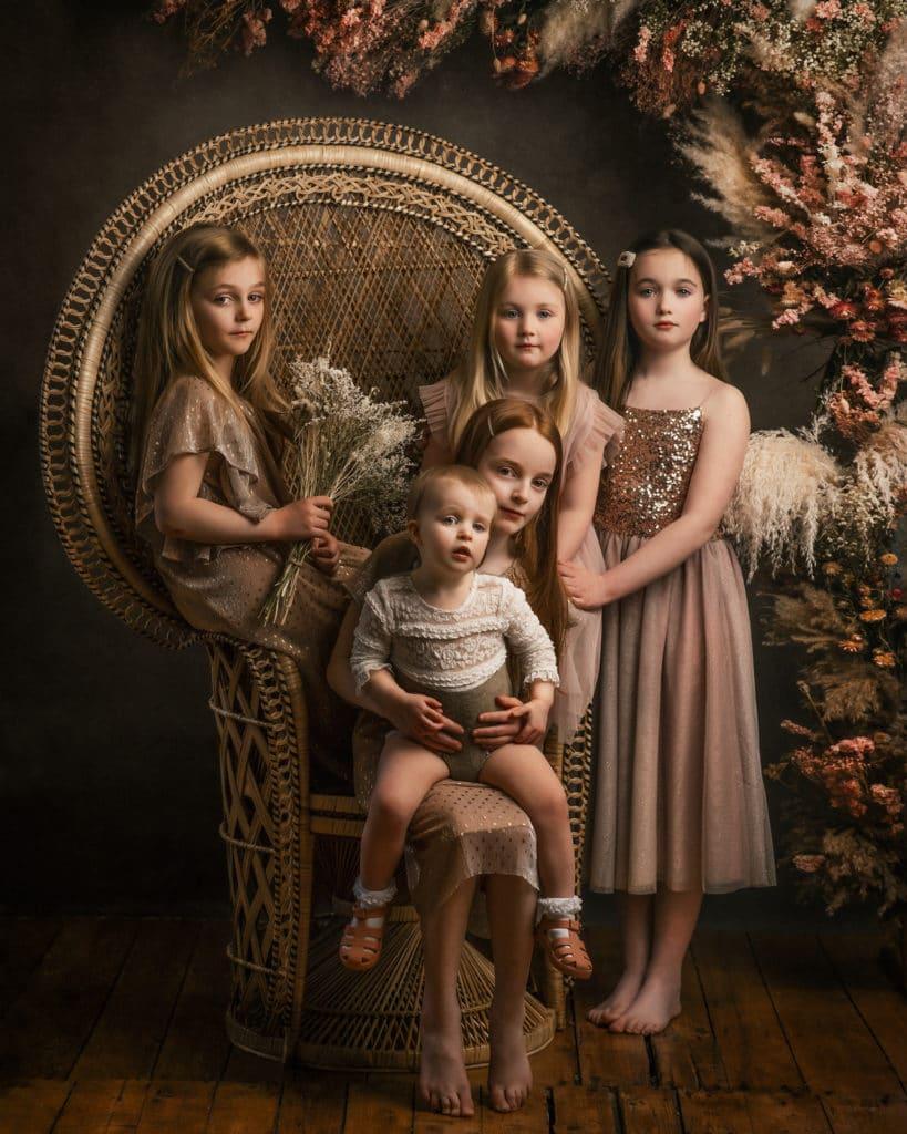 family photography boho fine art style